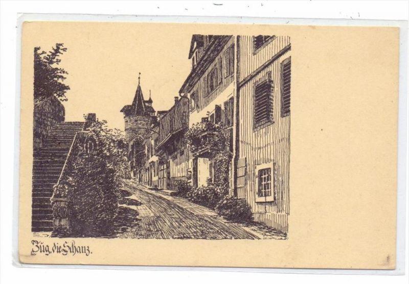 CH 6300 ZUG, Die Schanz, Künstler-Karte