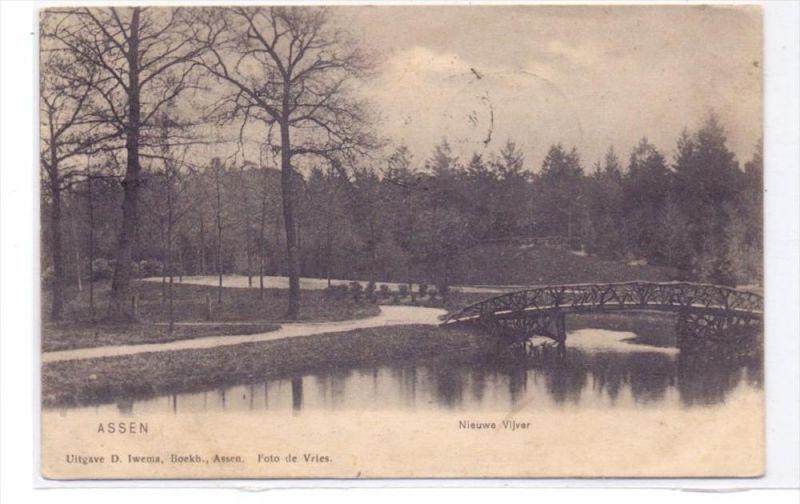NL - DRENTHE - ASSEN, Nieuwe Vijver, 1907