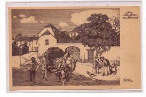 4130 MOERS, Alt Moers, Neumarkt, Künstler-Karte