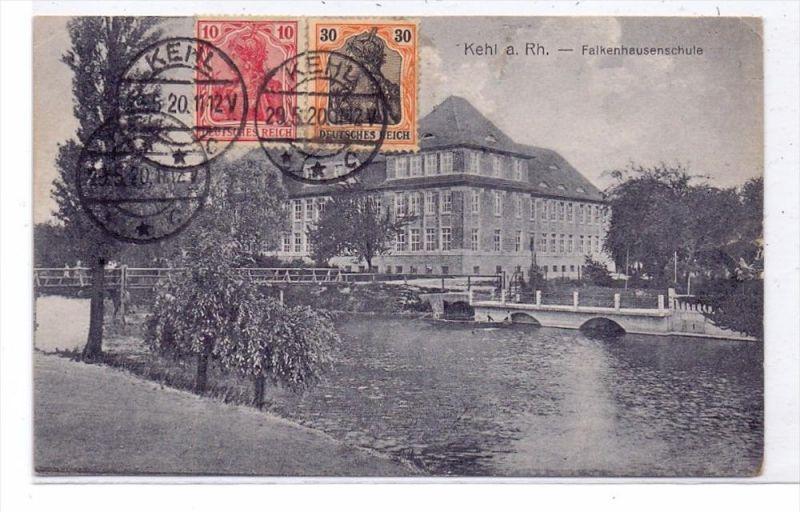 7640 KEHL, Falkenhausenschule, 1920