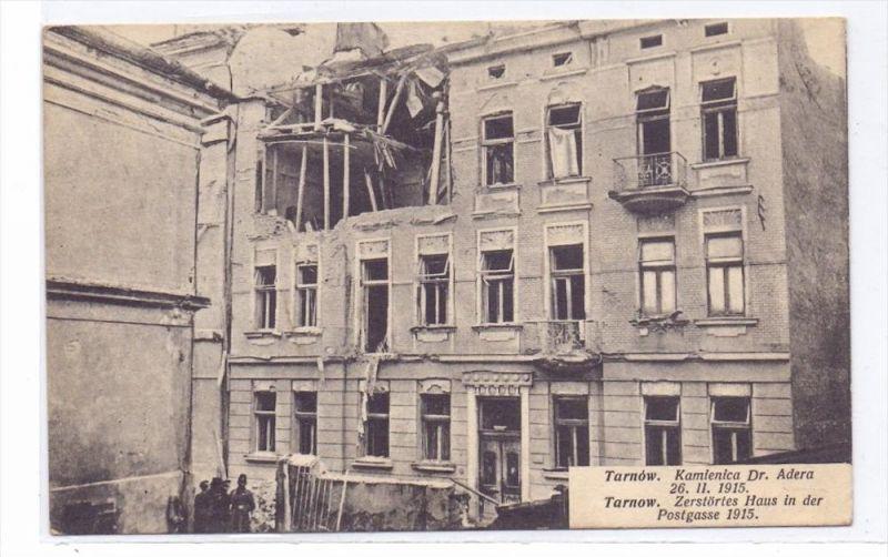 PL 33-100 TARNOW, Zerstörtes Haus Postgasse, 1915
