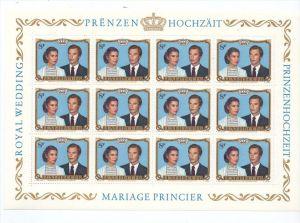 LUXEMBURG - 1981, Kleinbogen Prinzenhochzeit, Prifix 986, postfrisch ++