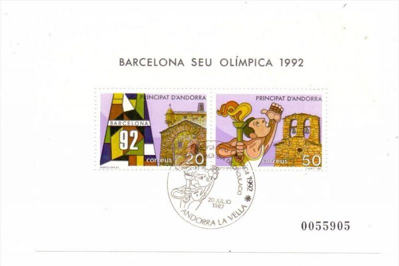 ANDORRA - span., Block 2, Olympia 1992 Barcelona, gestempelt