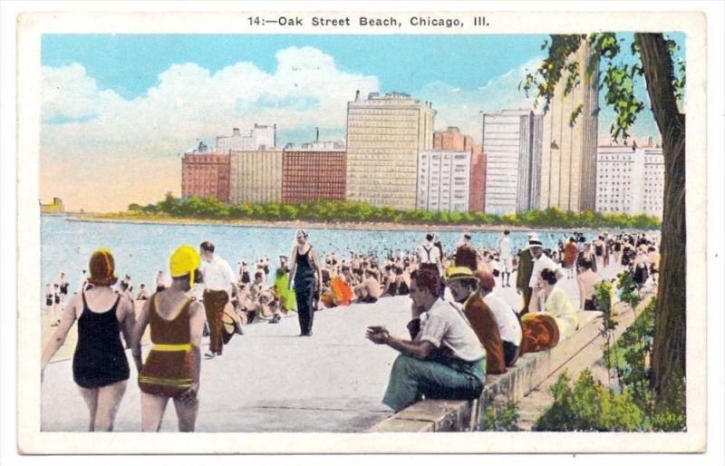 USA - ILLINOIS - CHICAGO, Oak Street Beach, 1936