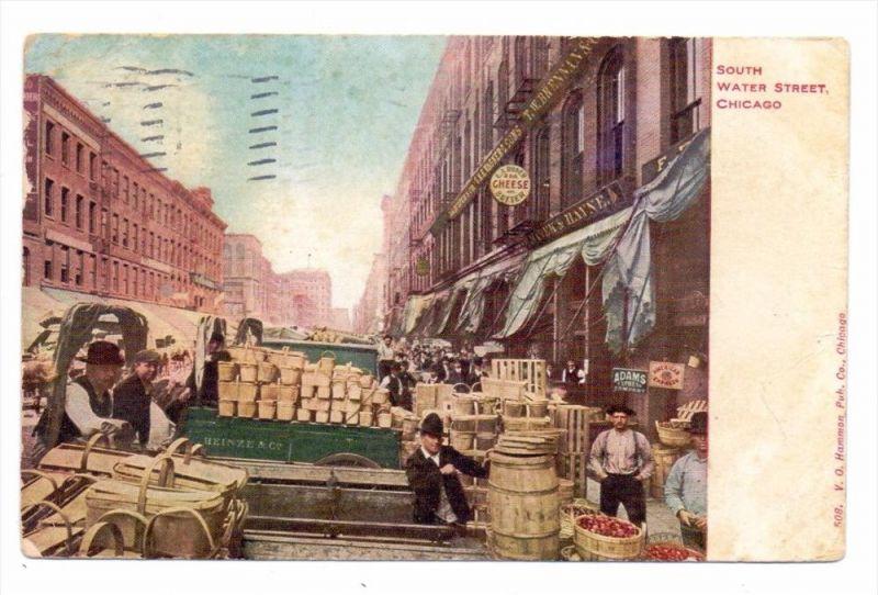 USA - ILLINOIS - CHICAGO, South Water Street, 1907