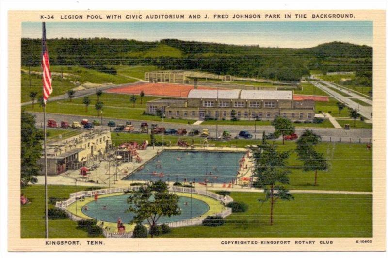 USA - TENNESSEE - KINGSPORT, Legion Pool & Civic Auditorium