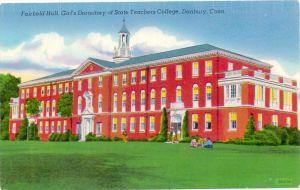 USA - CONNECTICUT - DANBURY, Fairfield Hall, Girl's Dormitory of State Teachers College