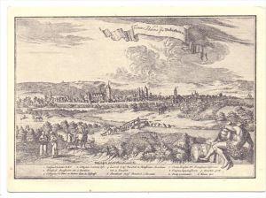 4790 PADERBORN, Historische Ansicht v. 1713, A.C. Fleischmann