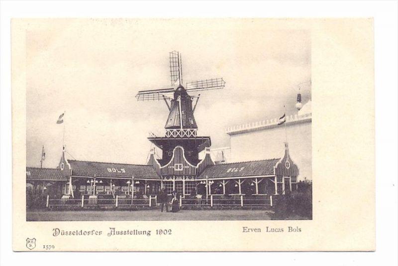4000 DÜSSELDORF, Ausstellung 1902, Pavillon Erven Lucas Bols, Windmühle / Molen