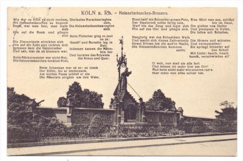 5000 KÖLN, Heinzelmännchen-Brunnen, 1913