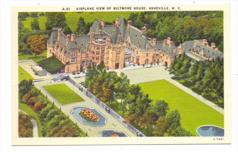 USA - NORTH CAROLINA - ASHEVILLE; Biltmore House, airview