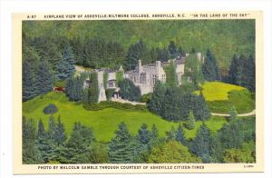 USA - NORTH CAROLINA - ASHEVILLE; Biltmore College, airview