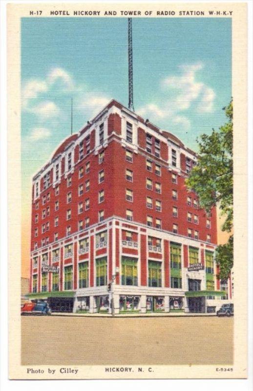 USA - NORTH CAROLINA - HICKORY, Hotel Hickory & Tower of Radio Station
