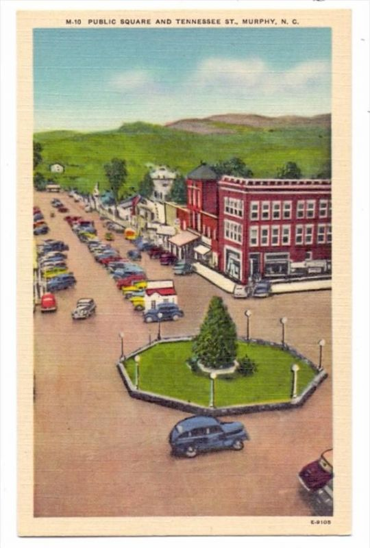 USA - NORTH CAROLINA - MURPHY, Public Square & Tennessee Street, oldtimer