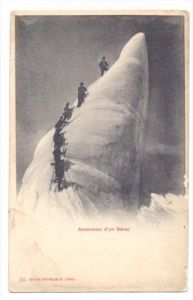 BERGSTEIGEN / Alpiniste / Climbing, ca. 1900, kl. Randmangel