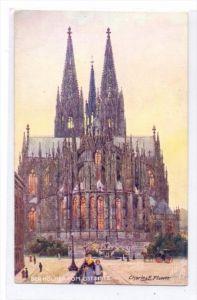 5000 KÖLN, Künstler - Karte Charles Flower, Kölner Dom Ostseite, TUCK - Oilette
