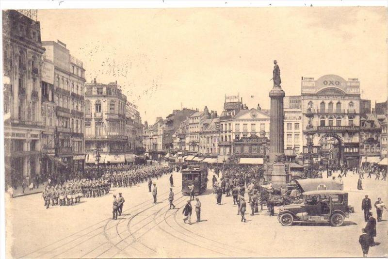 F 59000 LILLE, 1.Weltkrieg, Wachtparade am Hauptplatz, 1915, deutsche Feldpost