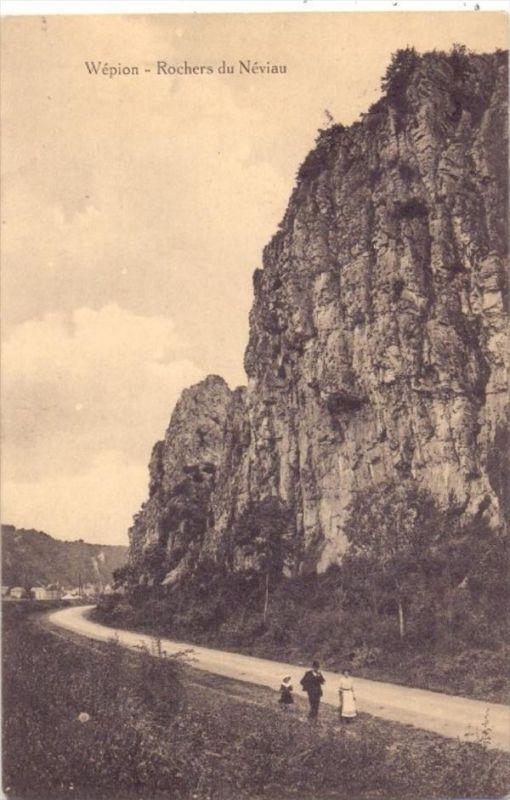 B 5000 NAMUR - WEPION, 1915, Rochers du Neviau, 1.Weltkrieg, deutsche Feldpost, Landsturm Fürstenwalde