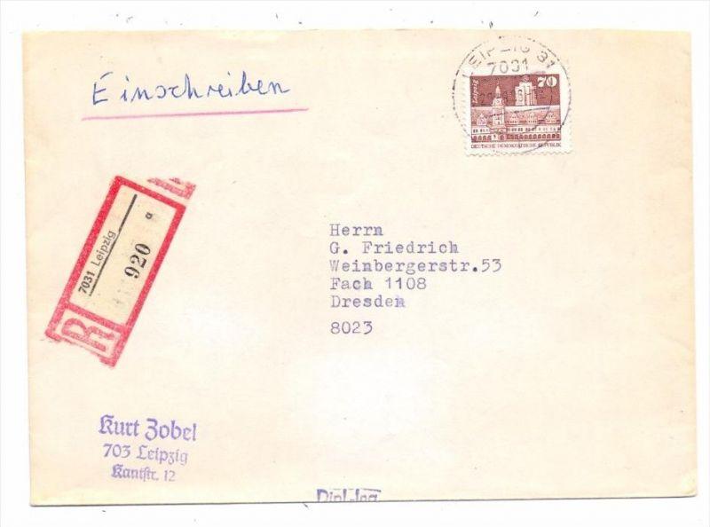 DDR - Michel 2602 w, glänzendes Papier, Einschreib-Einzelfrankatur, 29.8.86