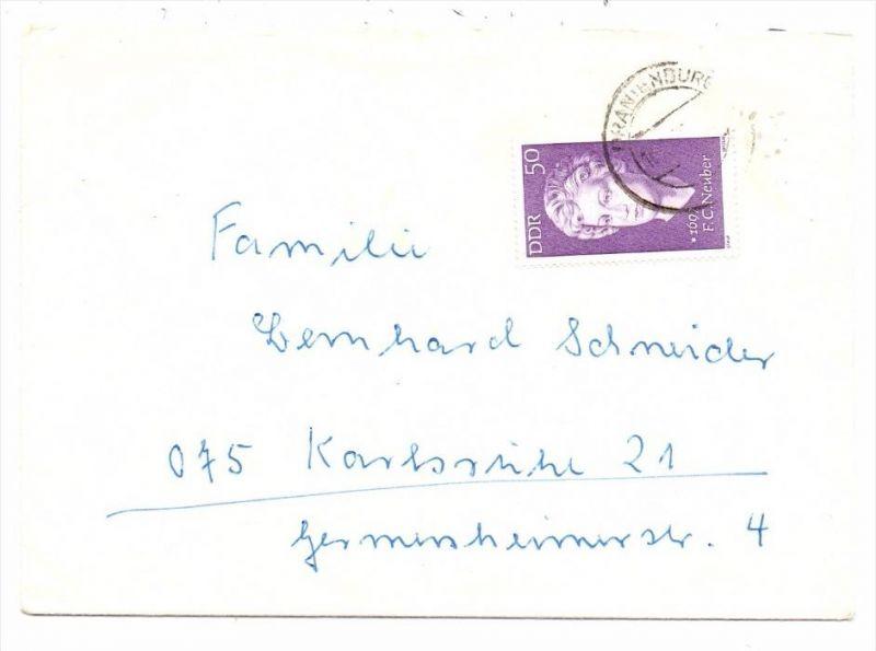DDR - Michel 1735, Neuber, Einzelfrankatur nach Karlsruhe, ohne Inhalt