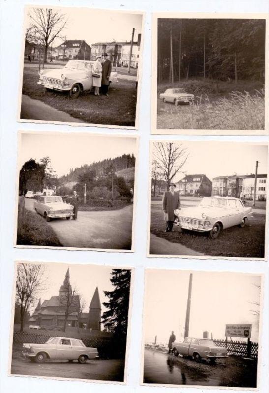 PHOTO - AUTOMOBILE - OPEL REKORD, 10 Photos 9 x 9 cm
