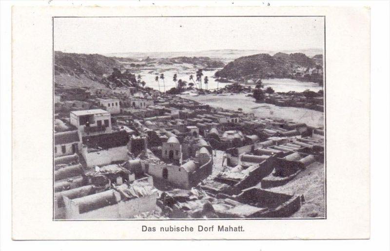 SUDAN - MAHATT, Nubisches Dorf, Nubian village