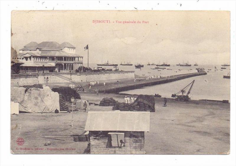 DJIBOUTI - Port, 1908, Paqueboat