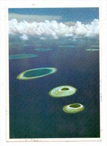MALDIVES / MALEDIVEN, Male Atoll, air view, 1982