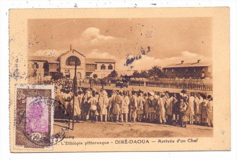 ETHOPIA / ÄTHOPIEN - DIRE DAWA / DIRE-DAOUA, Arrive d´un Chef, 1935
