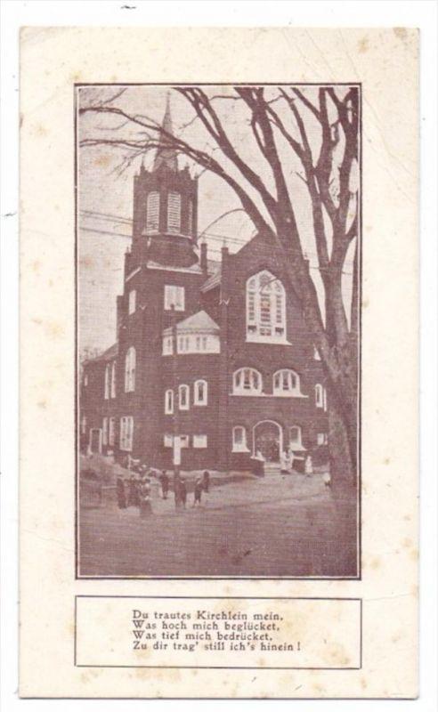 USA - MASSACHUSETTS - LAWRENCE, German Presbyterian Church, Unterschrift Rev. Richard Lange
