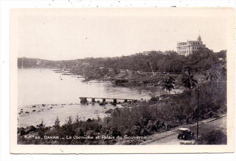 SENEGAL - DAKAR, La corniche et palais du Gouverneur