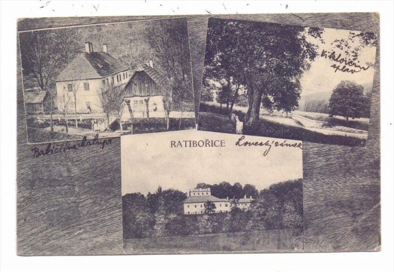 CSR 55203 RATIBORICE / RATIBORSCHITZ, Schloß / Zamek, 1922
