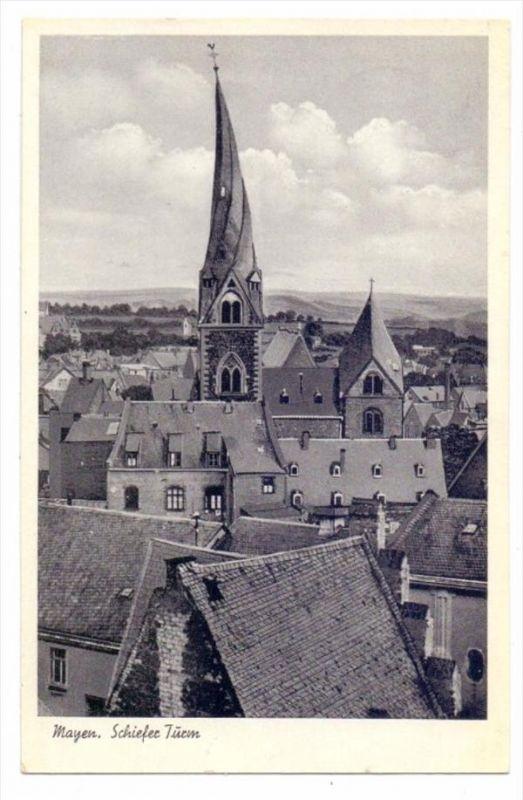 5440 MAYEN, Schiefer Turm, 1953
