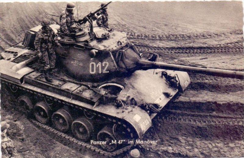 MILITÄR - Panzer / Tank / Chars - M 47 im Manöver, Bundeswehr