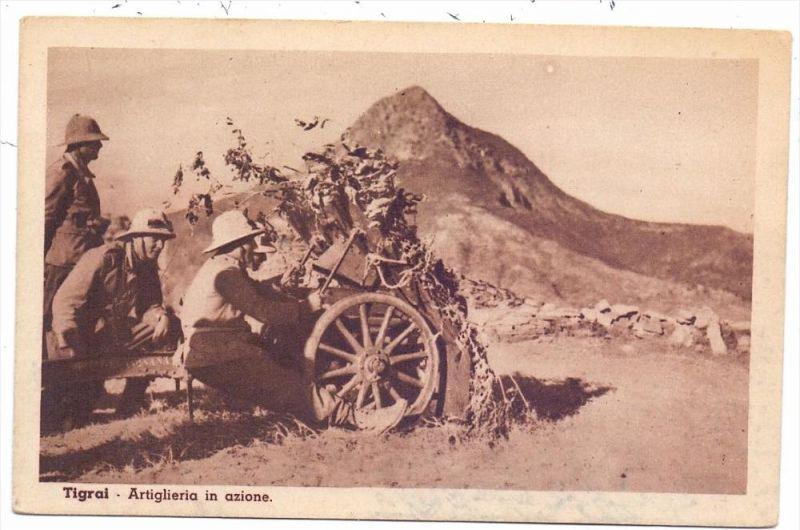ETHOPIA / ÄTHOPIEN - TIGRAY / TIGRAI, Italienische Artillerie, Abessinienkrieg