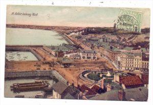 UK - CHANNEL ISLANDS - JERSEY - ST. HELIER, looking west, 1908, color