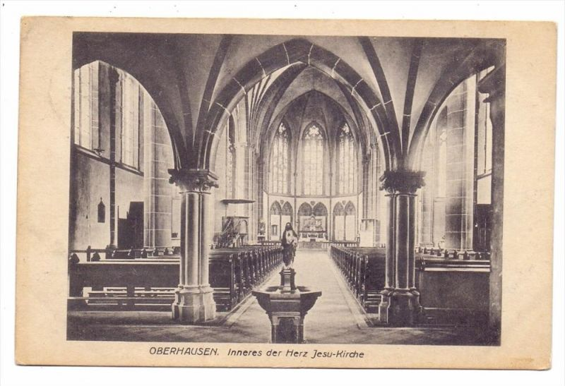 4200 OBERHAUSEN, Herz - Jesu - Kirche, Innenansicht, 1921