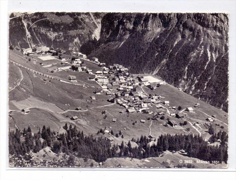 CH 3825 MÜRREN BE, Totalansicht, 1960