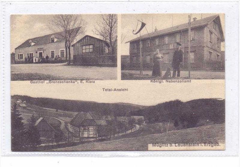 0-8242 ALTENBERG - MÜGLITZ, Grenzstation zu Tschechien, Nebenzollamt, Grenzschenke, Total-Ansicht