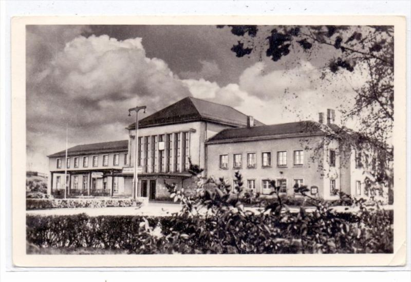 0-9380 FLÖHA, Bahnhof, 1957, kl. Druckstelle