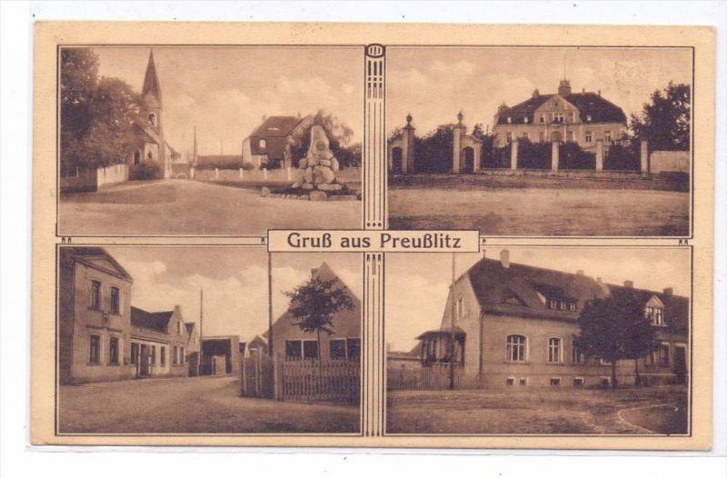 0-4350 BERNBURG - PREUSSLITZ, Mehrbild-AK