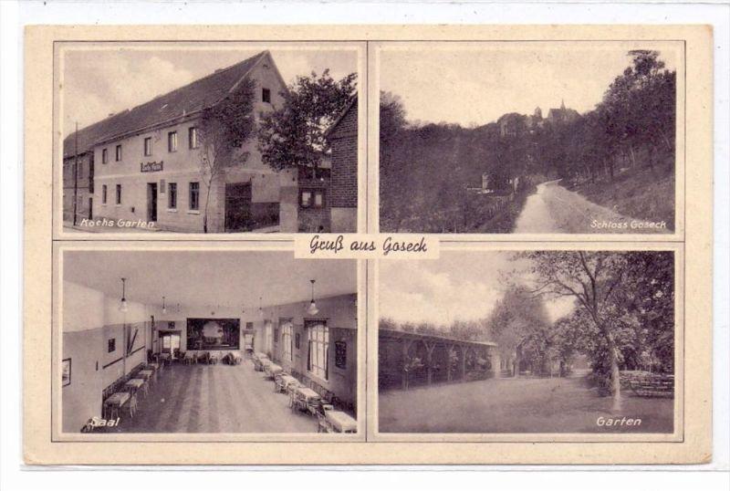 0-4851 GOSECK, Gasthaus Koch´s Garten, Schloss Goseck