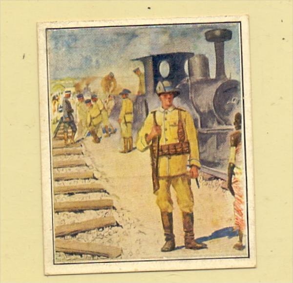 MILITÄR - Eisenbahn - Truppen in Deutsch - Südwest - Afrika, Sammelbild