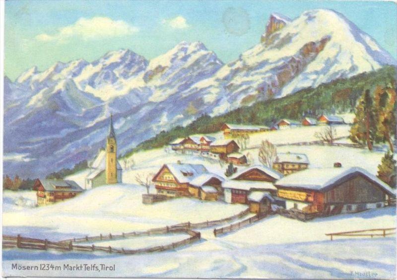 A 6100 TELFS - MÖSERN, Werbe-Karte Patzenhofer Kasslhof-Menthof