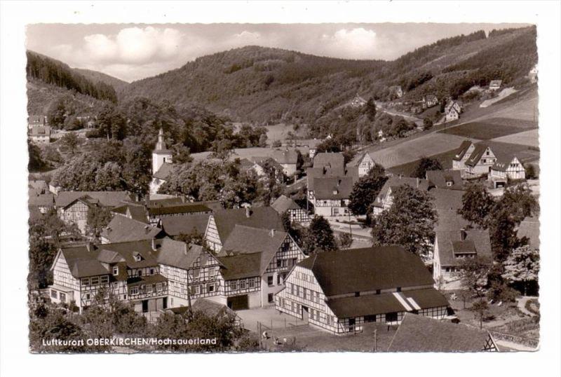 5948 SCHMALLENBERG - OBERKIRCHEN, Ortsansicht, 1960