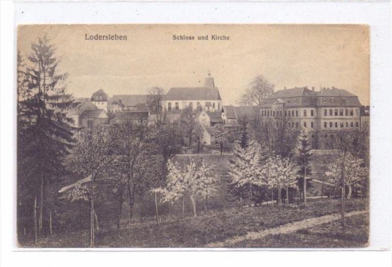 0-4240 QUERFURT - LODERSLEBEN, Schloss & Kirche, 1912