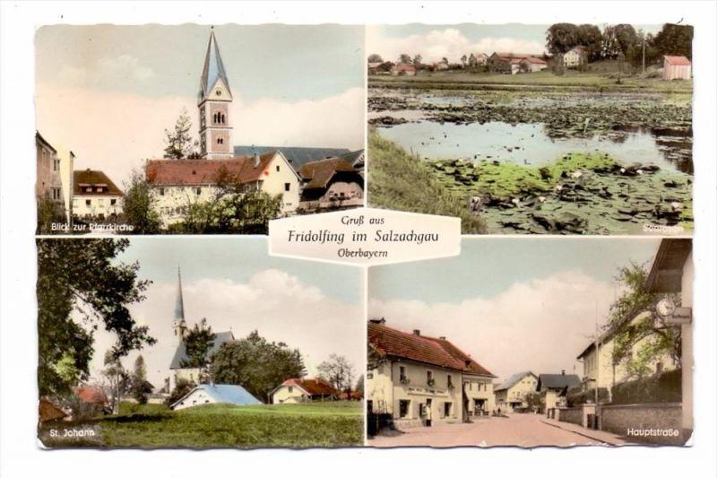 8229 FRIDOLFING, Hauptstrasse, Pfarrkirche, St.Johann, See