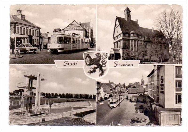 5020 FRECHEN, Hauptstrasse, Schwimmstadion, Rathaus, Strassenbahn, kl. Mängel