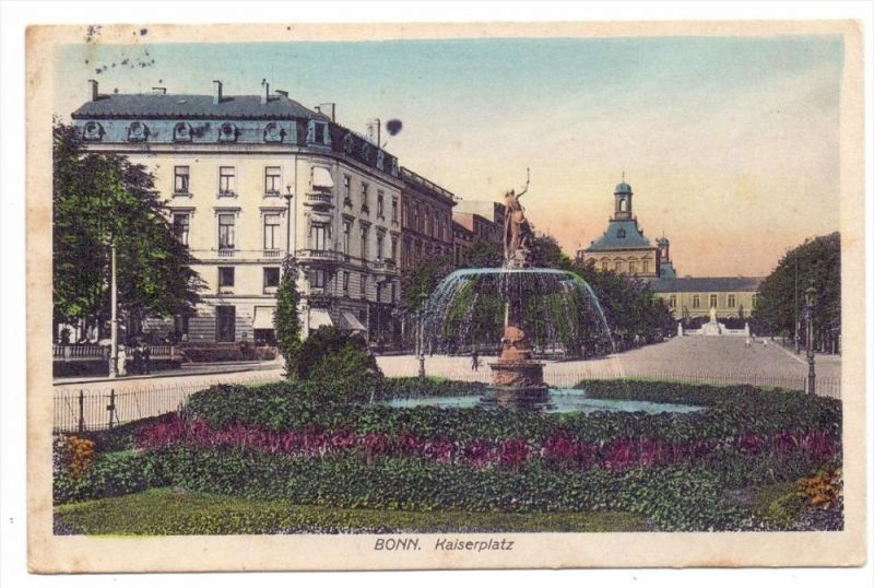 5300 BONN, Kaiserplatz, 1913, color