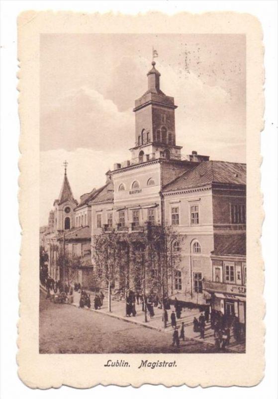 PL 200-00 LUBLIN, Magistrat, 1916, österr. Feldpost, Zensur Lublin